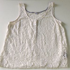 Volcom Sheer Lace Tank Top